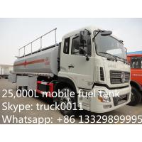 Buy cheap Dongfeng Kinland double rear bridge 25cbm mobile fuel tank for sale, fuel truck for sale from Wholesalers