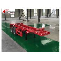 Wholesale Leaf Spring Type 40 Ft Low Bed Trailer , 40 Foot Triple Axle Trailer For Truck from china suppliers