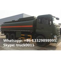 dongfeng tianlong 6*4 20cbm-25cbm oil tank truck for sale,factory sale dongfeng 20,000Liters military diesel tank truck