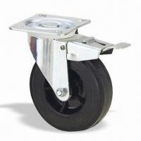 Quality Industrial Caster Wheel and Roller, with Pressed Steel Housing and Wheel Diameter of 100 to 160mm for sale
