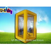 Wholesale Customized Inflatable Cash Machine , Advertising Yellow Inflatable Money Booth from china suppliers