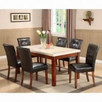 Wholesale 7-piece Dining Set, Made of Wood and PVC Sponge Cushion from china suppliers