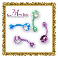 Wholesale OEM / ODM fashionable colored body piercing jewellery for women decorations BJ02 from china suppliers