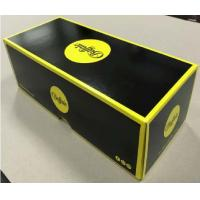 Wholesale Lid And Base Cardboard Shoe Boxes Black Yellow Easy To Disassemble Customized from china suppliers
