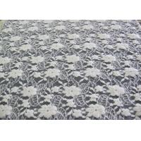 Washable Brushed Floral Lace Stretch Fabric / NylonCotton Spandex Fabric CY-LQ0043