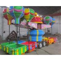 Wholesale 32 Seats Trailer Mounted Rides With Colorful Balloons And Beautiful Cabins from china suppliers