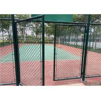 China Galvanized Temporary Chain Link Fencing Cyclone / Diamond Mesh 4.0mm For Garden on sale