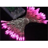 Wholesale Waterproof Battery Operated Christmas String Lights 4.5 Volt Multicolor / Pink from china suppliers