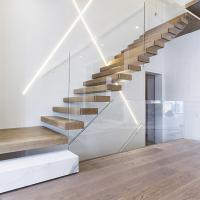 Wholesale home used diy wooden floating staircase fancy timber stairs from china suppliers