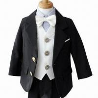 China Handsome Children's Formal Suit Set, Made of 100% Polyester on sale