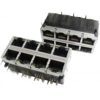 Wholesale 2x6 Multi-port Modular Jack RJ45 with transformer, shielded with EMI fingers, built-in LED from china suppliers