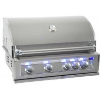 Wholesale Luxury outdoor bbq kitchen built in gas bbq grill bbq island with back burner, LED light , cast SUS 304 Burner for US from china suppliers