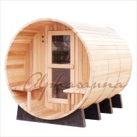 Buy cheap 8foot by 8 foot for 4-6 Person Outdoor Red Cedar Barrel Sauna  With Harvia Elecrical sauna heater from Wholesalers