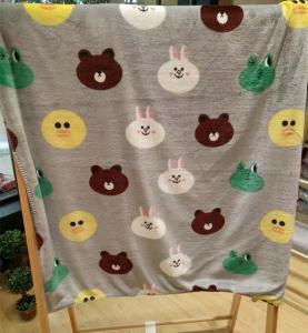 Buy cheap Teddy Bear Cartoon Print Blanket / Animal Print Baby Flannel Blanket Eco from wholesalers