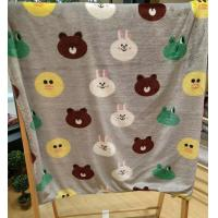 Buy cheap Teddy Bear Cartoon Print Blanket / Animal Print Baby Flannel Blanket Eco Friendly from wholesalers