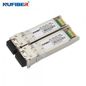 Wholesale 1330nm 1270nm 10G SFP+ Transceiver , Bidi LC 20km Sfp+ Fiber Module from china suppliers