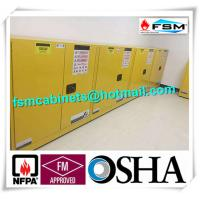 Wholesale Fireproof Flammable Safety Cabinets Three Points Linked Lock For Dangerous Goods from china suppliers