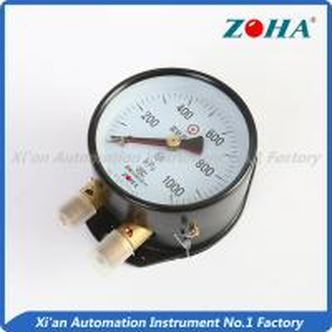 Wholesale Double Pointer Steam Pressure Gauge / Double Pipe Water Pressure Gauge from china suppliers
