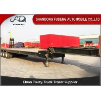 Wholesale 100 Ton Heavy Equipment Lowboy Trailer , BPW Axle Lowboy Flatbed Trailer from china suppliers