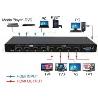 Wholesale 4 in 4 out Matrix  HDMI2.0  switch and splitter support 4K from china suppliers
