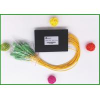 SC / APC Fiber Optic PLC Splitter Low excess loss 1x16 ports  for PON CATV