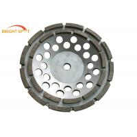 4 - 9 Inches Double Row Diamond Cup WheelAbrasion Resistant  For Stone / Concrete / Tile