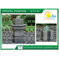 China Rolling Glass Ball Fountain , Glass Ball Water Feature Different Shape on sale