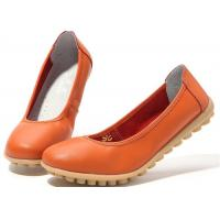 Wholesale New low-heeled leather women's shoes flat gum-rubber outsole women's shoes from china suppliers