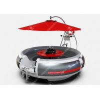 China 10 Person BBQ Boat Electric BBQ Donut Boat Leisure Barbecue Boat For Sale With Rgb Led Lights on sale