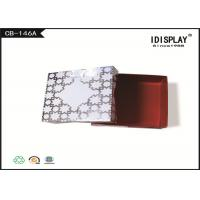 White Cardboard Jewelry Boxes / Decorative Christmas Gift Boxes SGS Approved