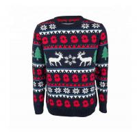 Christmas Sweater Knitting Xmas Deer Patterns Sweater Durable For Couple