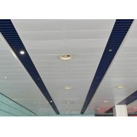 Buy cheap Artistic Eco-friendly Indoor Decoration Aluminum Suspended Strip Ceiling Panel Beveled Edge from Wholesalers