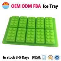 Quality Amazon Cool Big Giant Large Lego Ice Tray Block Silicone Molds Ice Cube Mould for Drinks for sale