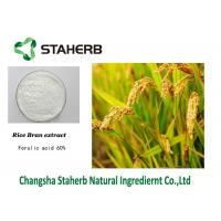 Wholesale Ferulic Acid Vegetable Extract Powder , Rice Husk Powder / Hull Powder Natural Source from china suppliers