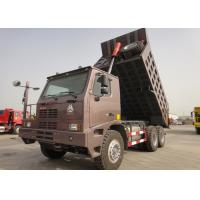 Wholesale 10 Wheels 70 Ton Dump Truck , 371HP HOWO Mining Dump Truck 14.00 - 25 Tire from china suppliers