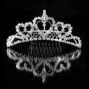 China Fashion Sparkling Crystal Bridal Tiara Crown Hair Comb on sale