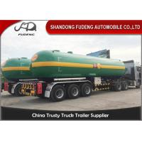Wholesale Fudeng 3 Axles Max 25Tons / 60m3 / 60000Liters Lpg Propane Tanker  , LPG Transport Trailer from china suppliers