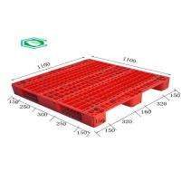 Wholesale Racking Design Single Faced Reinforced Rectangle Grid Euro Plastic Export Pallets from china suppliers