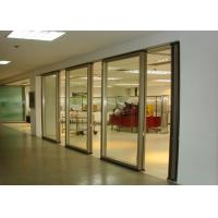 China Office Folding Glass Block Partition Walls 680 / 1230 Width 2000 / 4500 Height on sale