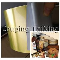 Wholesale 8011   golden aluminium coil with pvc adhesvie for food bottle can caps from china suppliers