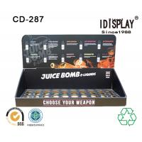Buy cheap Retail Store E Liquid Juice Cardboard Table Top Displays , Cigarette Cardboard Display Racks Cabinet from Wholesalers