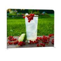 Straight Curved Trade Show Backdrop Displays U Shape Pop Up Stand Easy Operation