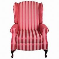 Wholesale Handle-free Recliner with Wing Back Sofa, Available in Stripe Fabric from china suppliers