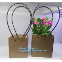 China Cardboard flower packing boxes flower paper carrier bags flower packaging,book bag custom canvas shopping bag eco friend on sale