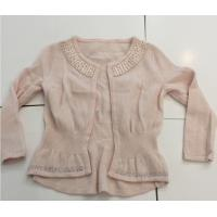 Buy cheap Hot Fix Rhinestones Kids Knitted Sweater Cardigan Long Sleeve For Girls OEM from Wholesalers