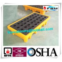 Wholesale Polyethylene Spill Containment Pallets With Drains For Oil Drums / Chemical Barrels from china suppliers