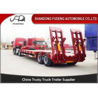 Quality 2 axles lowboy low bed truck semi trailer 30 ton 40 ton with spring ladder for sale