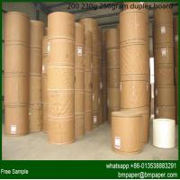 Wholesale coated duplex board grey back / white coated duplex board / 230-500gsm paper paperboard from china suppliers