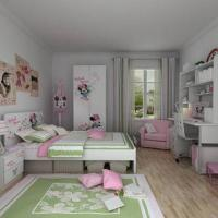 Wholesale E0 Grade Childern's Bedroom Furniture, Home Product, Desk, Chair, Disney, Minnie, Wood Furniture from china suppliers