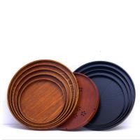 Wholesale High quality slate food serving plate round wooden plate from china suppliers